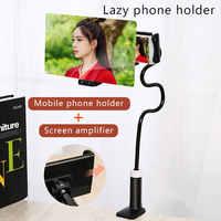 8/12 cal 3D wzmacniacz ekranu telefon komórkowy szkło powiększające uniwersalny elastyczne długie ramię leniwy posiadacz telefonu stojak na biurko do telefonu