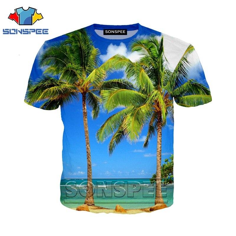Anime 3d Print Funny T Shirt Men Hip Hop Palm Tree Women Fashion T-shirt Kids Harajuku Beach Tee Funny Shirts Homme Tshirt A26