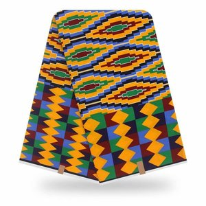 Image 4 - 100% قطن أنقرة أفريقيا طباعة النسيج الشمع الحقيقي Pagne Tissu مواد الخياطة للحفلات الحرفية فستان لتقوم بها بنفسك أنماط الأزهار