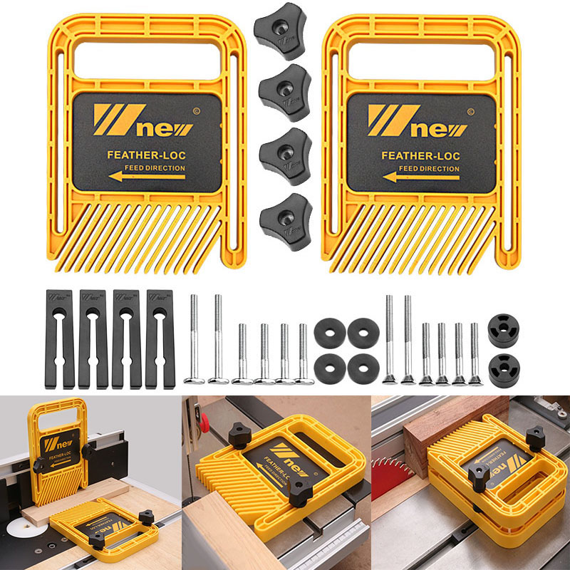 Woodworking Double Feather Loc Board Set Miter Gauge Slot T Track Woodwork Saw Table Fence DIY Safety Tools