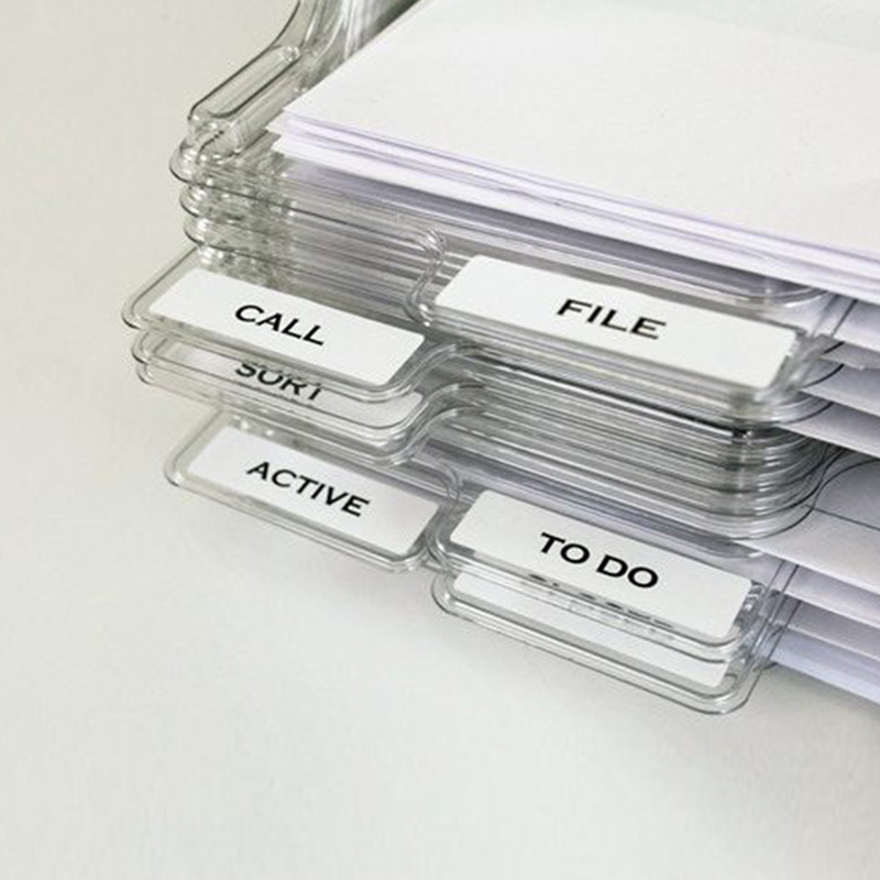 File Storage Box Document Rack Organizer Tray Stackable For Magazine Paper Office TU-shop