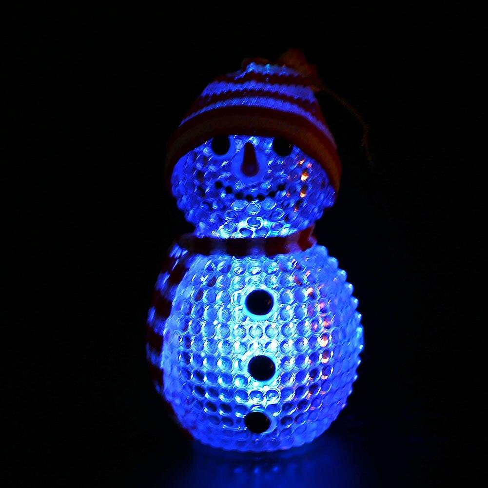 Fantasy Night Light LED Snowman Flashing Christmas Gift Table Decoration