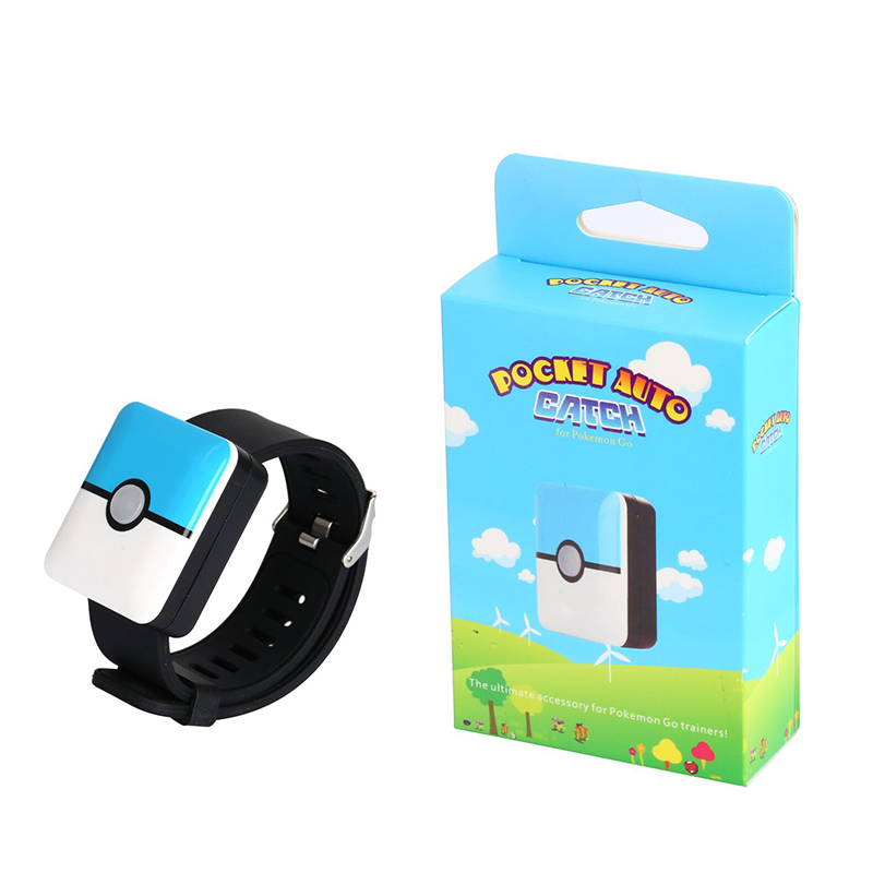 New Auto Catch Bracelet for Pokemon Go Plus Bluetooth Rechargeable Square Bracelet Wristband for Android IOS