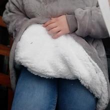 Fleece Blankets For Beds Travel Solid Warm Hooded TV Blanket Outdoor Huggle Wearable Office Sofa Nap
