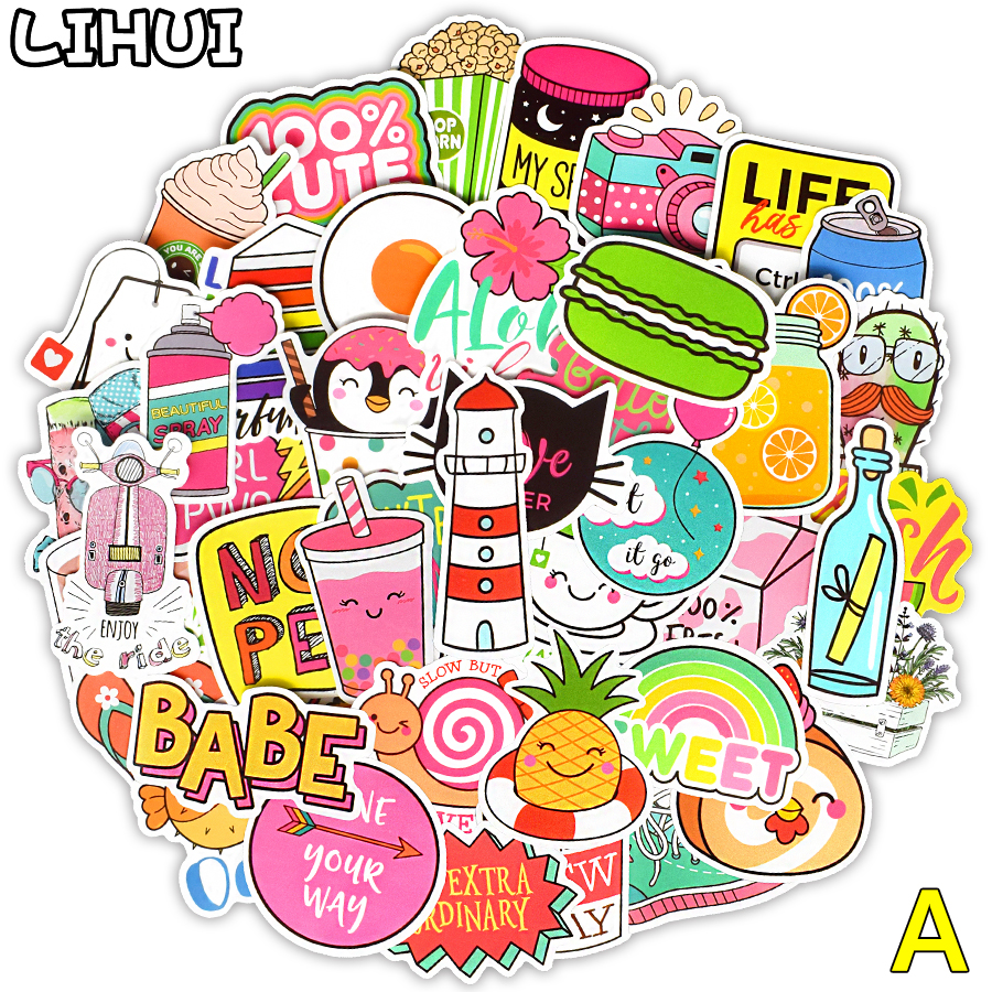 200 PCS VSCO Girl Stickers For Kids Toy Waterproof Cartoon Kawaii Sticker To DIY Laptop Fridge Skateboard Luggage Bike Car Decal
