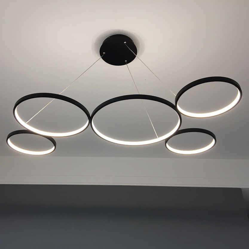 NEO Gleam Trắng/Đen Minimalism Mặt Dây DẪN Hiện Đại Lights đối với Ăn Nhà Bếp Phòng Phòng Khách Treo Suspension Pendant Lamp