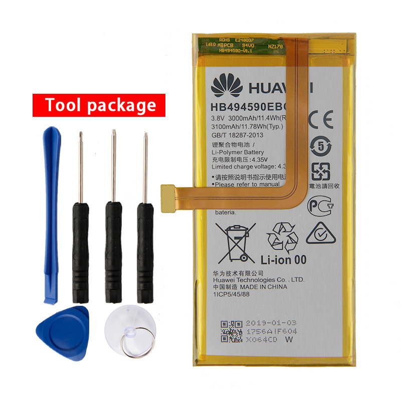 Original HB494590EBC Phone Battery For Huawei Honor 7 Glory PLK-TL01H PLK-AL10 PLK-UL00 PLK-CL00 3000mAh