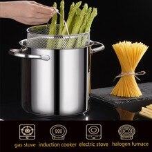 2021 Deep Fryer Stainless Steel Small Fryer Household Japanese Style Tempura With Filter Oil-saving Pot 304 Oil Pan Kitchen Pots