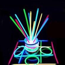 10 шт. вечерние Флуоресцентный светильник светящиеся палочки Браслеты ожерелья неоновая вывеска для Свадебная вечеринка светящиеся палочки яркие красочные светящиеся палочки