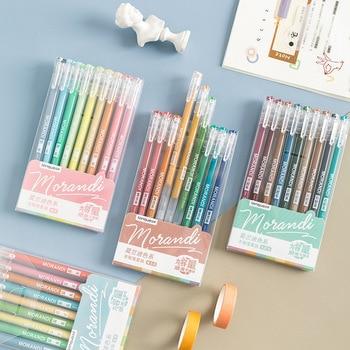 9 Teile/satz Morandi Gel Stift Multi Farbige Gel Tinte Stifte Vintage 0,5mm Writting Zeichnung Stift Schreibwaren Geschenk Für Kinder büro Liefert