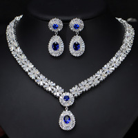6 Colors High Quality African CZ Beads Big Red Green Blue Cubic Zirconia Luxury Women Jewelry Sets for Evening Party