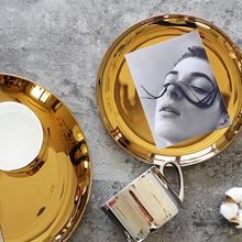 11.11 Gratitude and feedback Gold silver high end dining plate jewelry plate(China)
