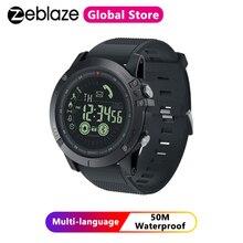 Zeblaze vibe 3 relógio inteligente robusto 33 meses tempo de espera 24h monitoramento de todas as condições meteorológicas para ios e android