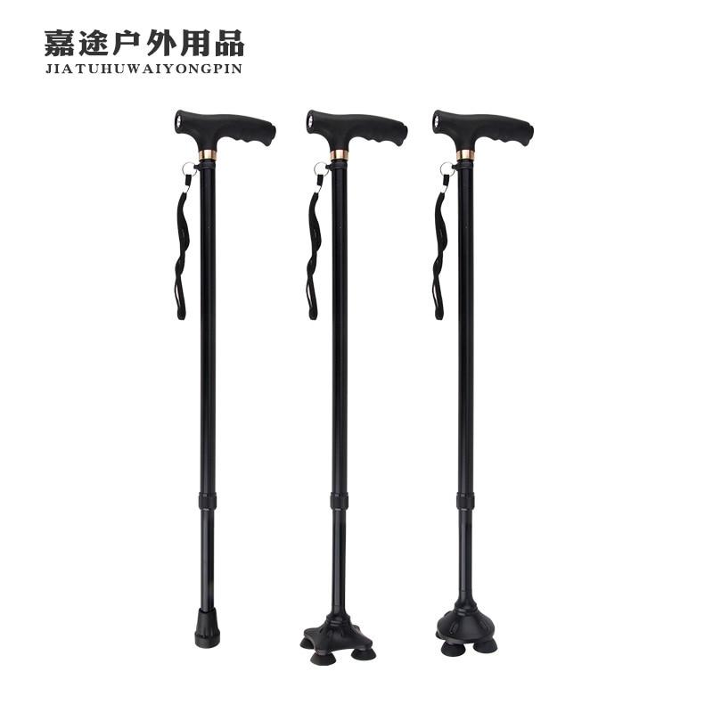 360 Rotating Four Corners Base Elderly Stick Ten Stalls Regulation Ultra-Light Elderly Stick ABS Anti-slip Elderly Wand