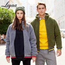 Winter Warm Men Winter Thick Sweaters Hoodies Tops Fluffy Fleece Fur Jacket Hooded Coat Outerwear Long Sleeve Cardigans