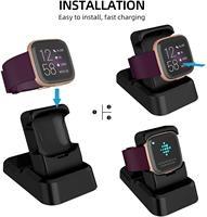Para Fitbit Versa 2 Estande Carregador de Substituição de Carregamento Clipe do Suporte de Carregamento Cradle Doca Titular Adaptador Compatível com Fitbit Vers