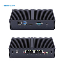 Qotom Mini PC con procesador Core i3 i5 y 4 Gigabit NICs, AES-NI, RS232, sin ventilador Mini PC PFSense Firewall Router