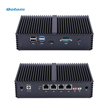 Qotom Mini PC with Core i3 i5 processor and 4 Gigabit NICs, AES-NI, RS232, Fanless Mini PC PFSense Firewall Router