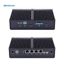 Qotom 미니 PC, 코어 i3 i5 프로세서 및 4 기가비트 NICs, AES NI, RS232, 팬리스 미니 PC PFSense 방화벽 라우터