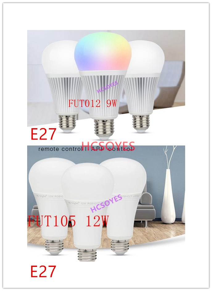 milight <font><b>FUT012</b></font> 9W /FUT105 12W RGB+CCT LED Bulb 16 million RGB CCT E27 AC100~240V 50/60Hz 2700~6500K LED Blub Spotlight image
