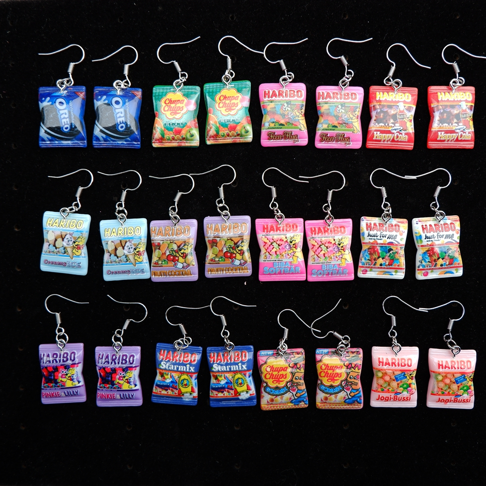 Cute Candy Earrings Drop Earring Candy Costume Trendy Style Woman Girl Jewelry Drop Shipping Wholesale