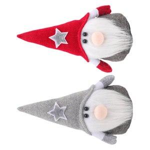 2 шт рождественские безликие кукольные украшения Рождественские карликовые куклы Украшение креативное Рождественское украшение для домаш...