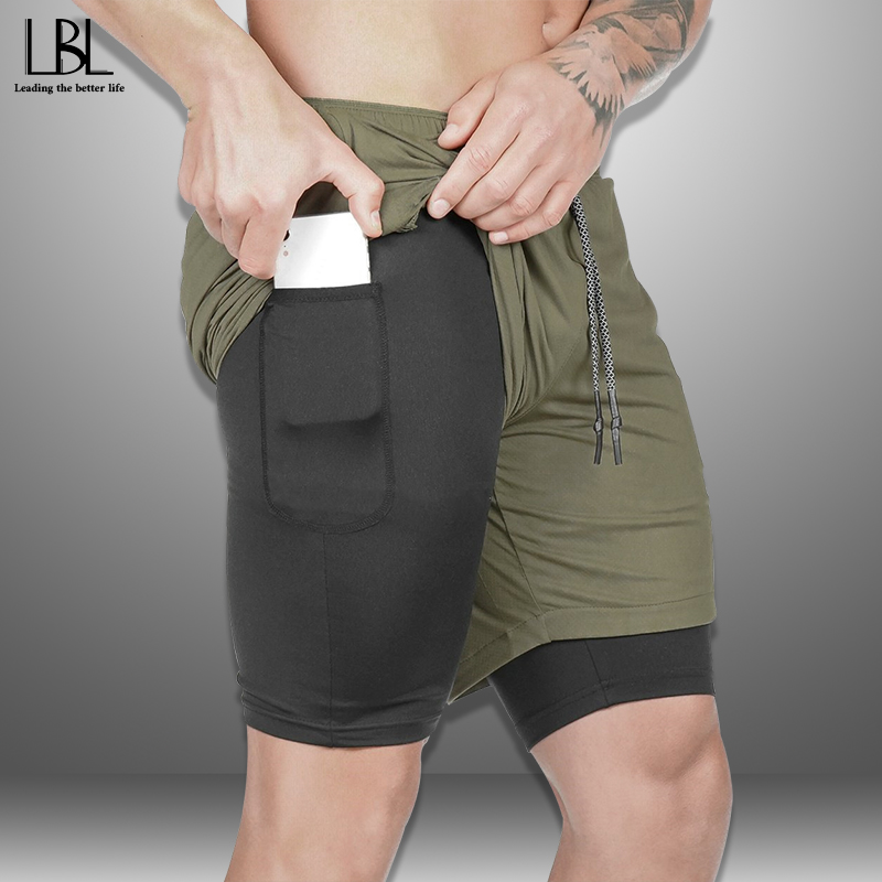 Casual Shorts Men Summer Breathable New Fashion Bodybuilding Boardshorts Male Built-in Pocket Steetwear Mens Short Trousers 2020