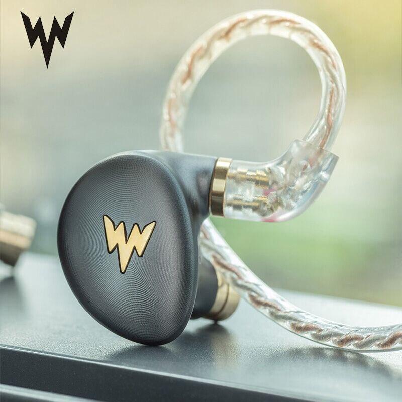 ThundeaL HiFi hi-res casque A-HE03 juteux basse écouteur dynamique hybride 2 Knowles Armature son clair métal dans l'oreille écouteur