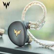 Whizzer  HiFi Hi Res Headset A HE03 Juicy Bass Earphone Dynamic Hybrid 2 Knowles Armature Clear Sound Metal In Ear Earphone