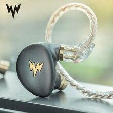 Whizzer HiFi Hi çözünürlüklü kulaklık A HE03 sulu bas kulaklık dinamik hibrid 2 Knowles armatür net ses Metal kulak kulaklık