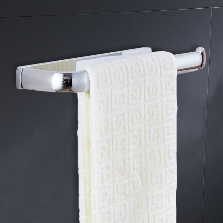 Electroplated Chrome Bright Silver Simple Brass Towel Ring Towel Bar Toilet Sanitary Ware Hardware Accessories Wholesale Price