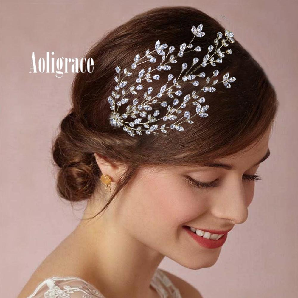 2021 New Cubic Zirconia CZ Zircon Bridal Wedding Adjustable Headband Hairbands Handmade Headpiece Women Hair Jewelry Accessories