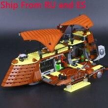 LegoING Звездные войны 821 шт Парусная баржа Jabba строительные блоки наборы совместимые Legoings фигурки Звездные войны модель игрушки для детей