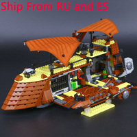 LegoING Star Wars 821Pcs The Jabba Sail Barge Building Blocks Sets Compatible Legoings Starwars Figures Model Toys For Children