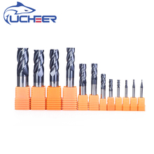 цена на UCHEER HRC45 4 Flute 4mm CNC tools Alloy Carbide Milling Tungsten Steel Cutter End Mill cricut machine for sale router
