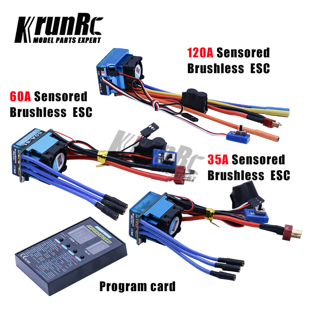 New 120A Sensored Brushless ESC Speed Controller for RC Car Crawler