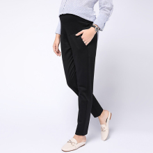 Women Pregnant Pants Elastic Waist Maternity Black Trousers  for Pregnancy Pregnant Leggings Elastic Clothing