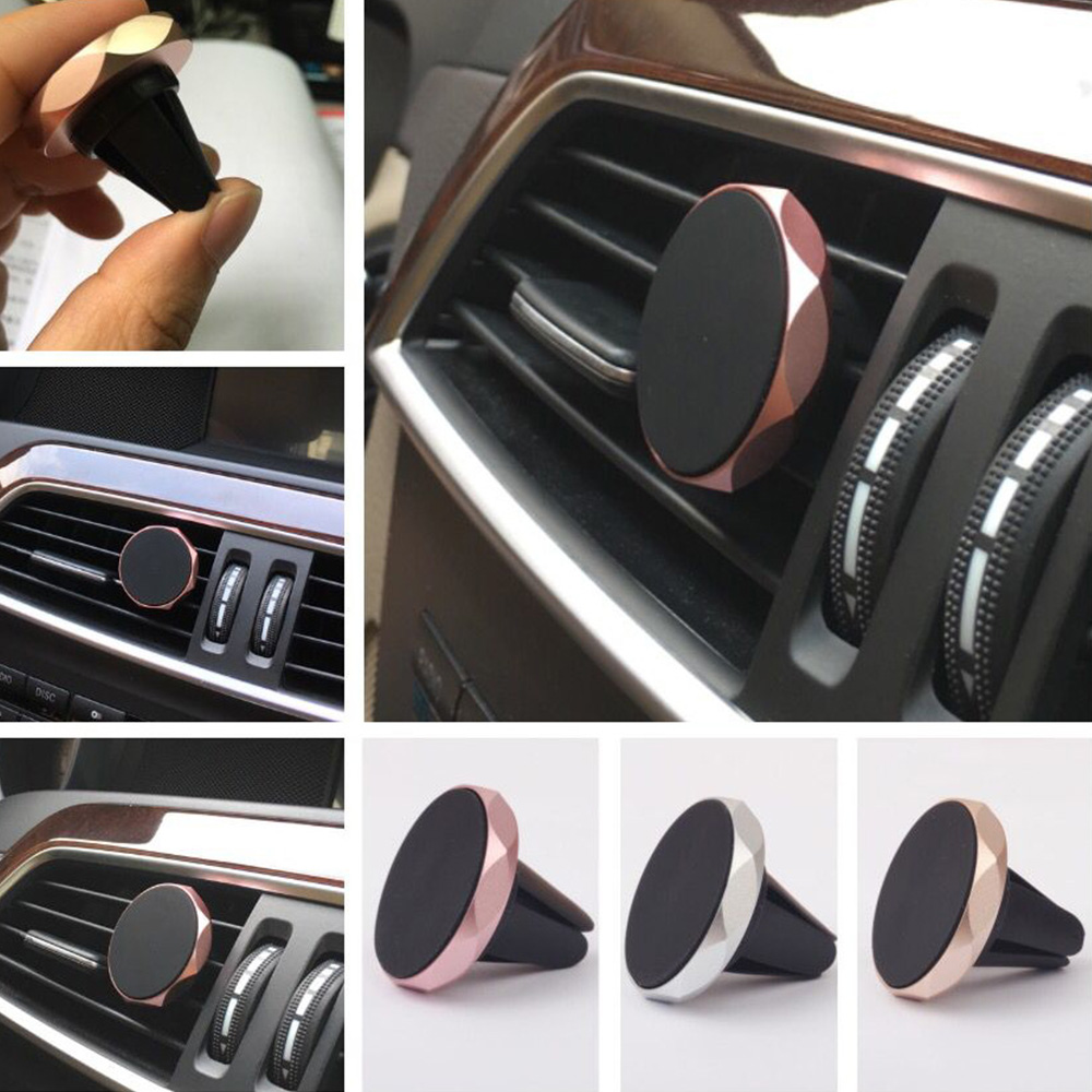 Car Phone Holder For Huawei P30 Xiaomi IPhone 11 Magnetic Air Vent Mount Mobile Smartphone Stand Magnet Support Cell In Car GPS