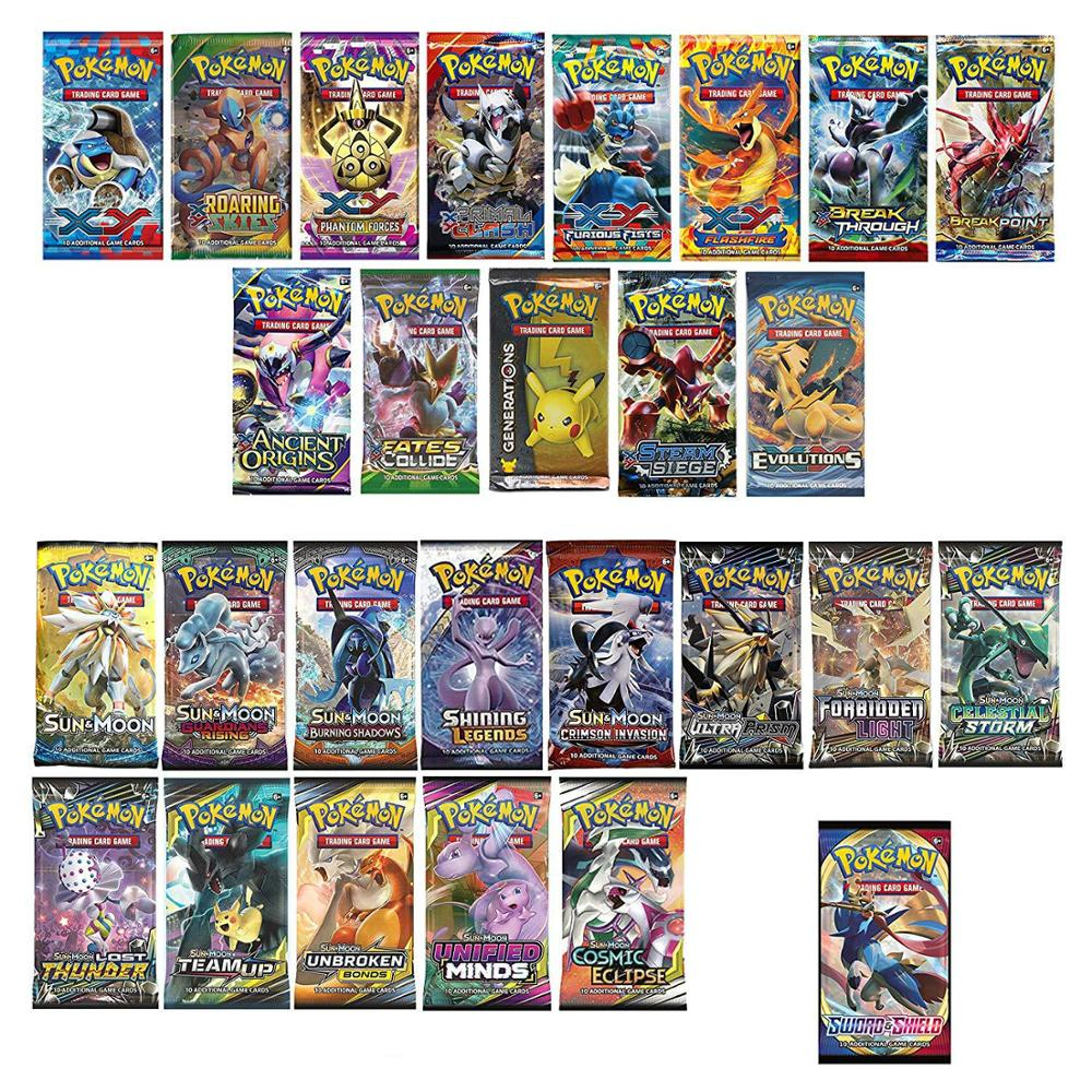 324pcs 포켓몬 카드 모든 시리즈 TCG Sun & Moon 시리즈 Evolutions 부스터 박스 Collectible Trading Card 포켓몬 게임 Kids Toys