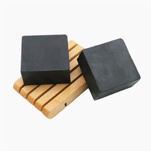100g Handmade Soap Bamboo Charcoal Soap Goat's Milk Face Care Wash Soap Base for Bath Sulfur Skin Deep Cleansing Moisturizing(China)