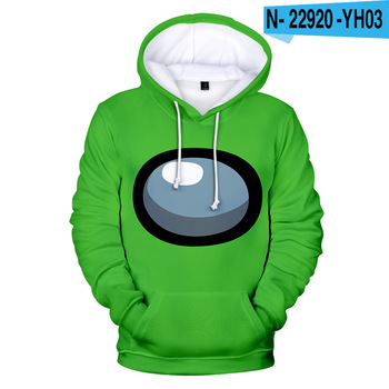 New Autumn Winter Tops Funny Print Among Us Hoodie Cartoon 3D Printed Pullover Sweatshirt Adult Harajuku Anime Pullover 29