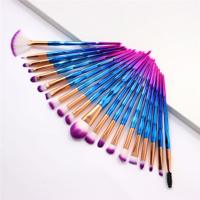 20Pcs Diamond Makeup Brushes Set Beauty Make Up Brush Tool Cosmetic Powder Foundation Blending Eye Shadow Eyebrow Eyelash Brush 2