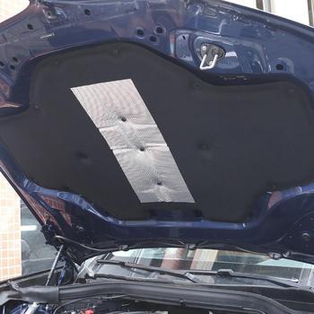 Maska samochodu silnika izolacja akustyczna Pad dźwiękoszczelne pokrowiec bawełniany termiczna podkładka termoizolacyjna mata dla BMW X3 X4 G01 G02 2018-2020 tanie i dobre opinie CN (pochodzenie) Kaptur Dźwiękoszczelne Bawełna Folia aluminiowa
