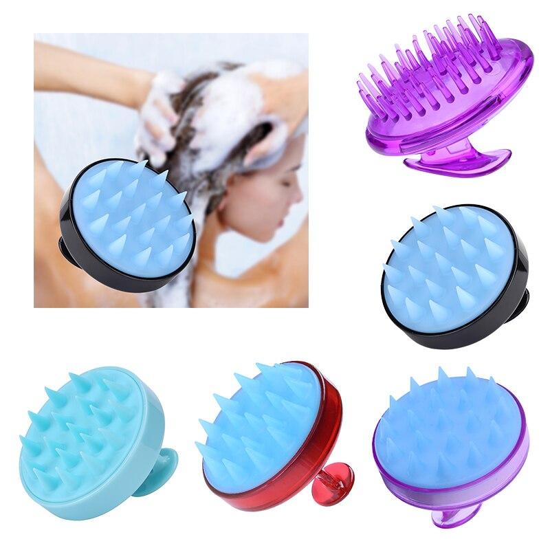 1 Pcs Silicone Head Scalp Massager Brush Hair Shampoo Washing Comb Bath Shower Spa Brush Hair Washing Massage Tools Wholesale