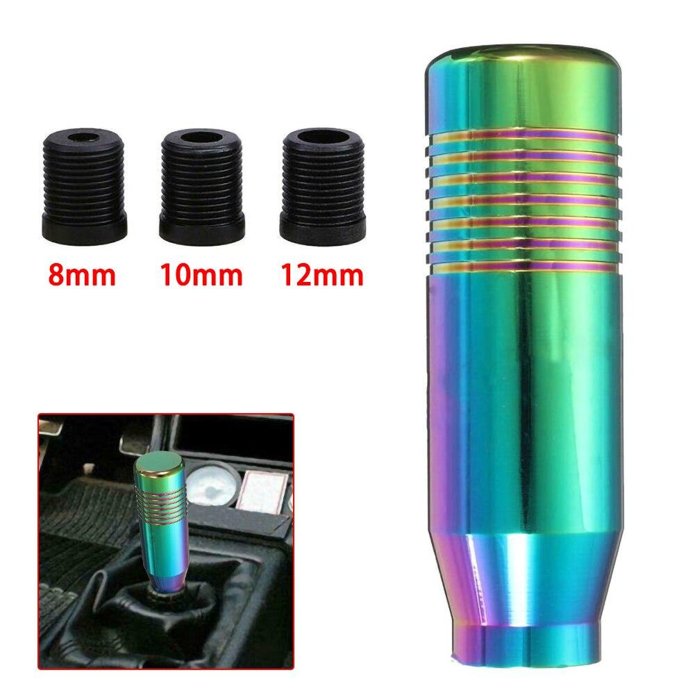 Universal Manual Da Shift de Engrenagem Knob Vara de Alumínio Do Carro de Transmissão Manual de Alavanca de Câmbio Shifter Knob