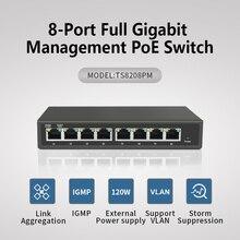 Купить с кэшбэком 8-Port Gigabit Desktop managed Switch with 8-Port PoE