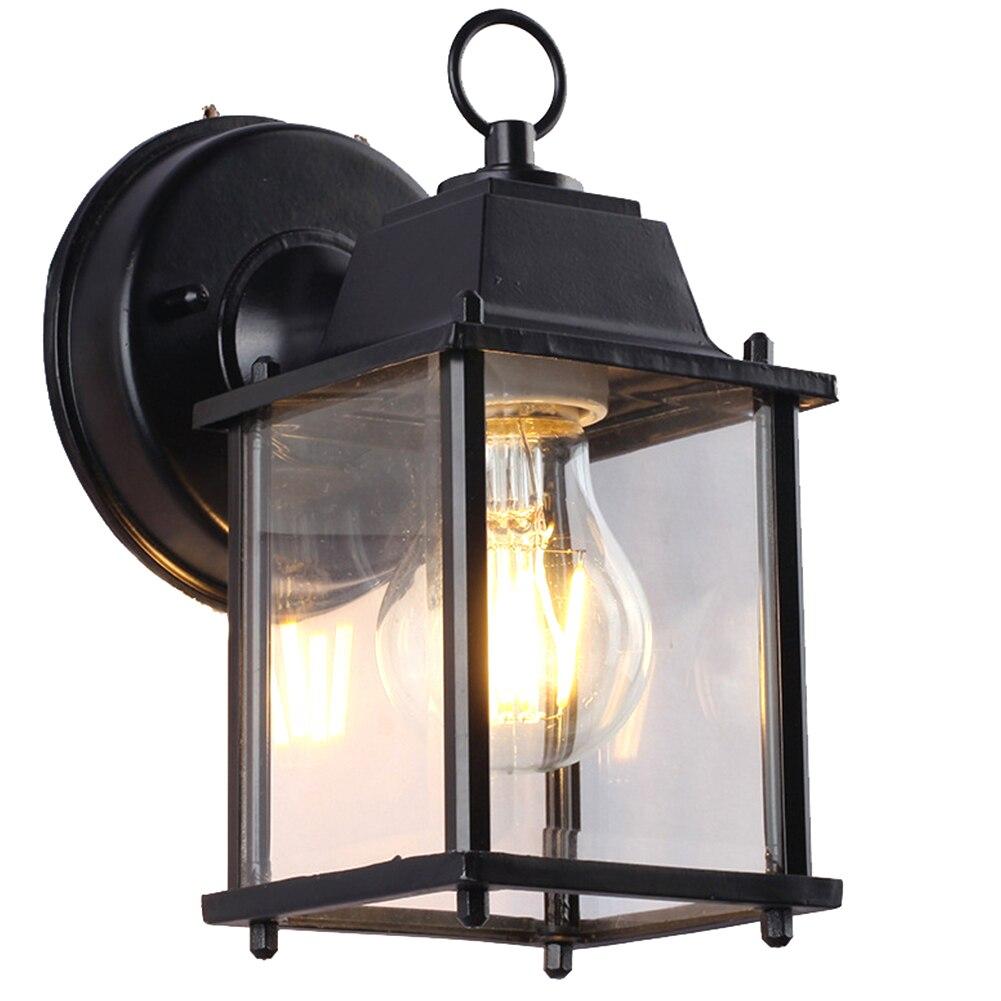 ไฟฟ้า Porch ระเบียงหน้าแรกตกแต่ง LED กันน้ำภายนอก Night Light ทางเดินสวนโคมไฟกลางแจ้ง