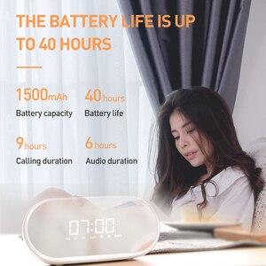 Baseus Nacht licht Bluetooth Lautsprecher Mit Wecker Funktion, Tragbare Drahtlose Lautsprecher Sound-System Für Nacht & Büro