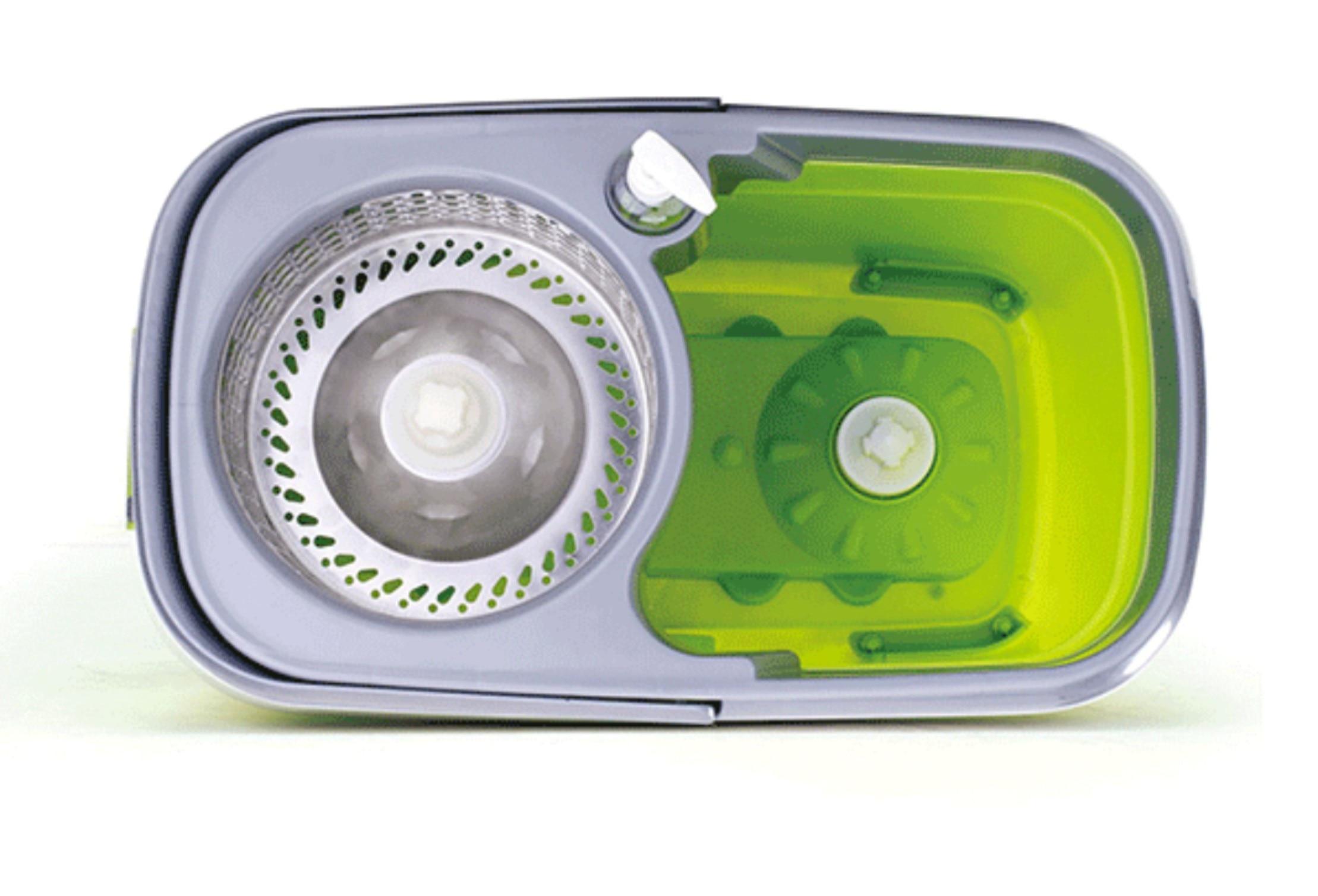360 Gradi Maniglia Spin Automatica Elescopic Mop per La Casa Cucina di Piastrelle di Pulizia Spin Pigro Mop Fibra Superfine Secchio Set - 2