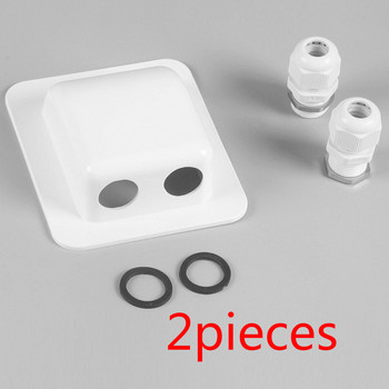 2pcs Waterproof Junction Box Roof Solar Panel Double Cable Installation Entry Gland Box Electrical Connection  for Solar Project